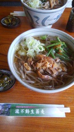 Taki Fudo Nama Soba: 冷たい肉蕎麦大盛り