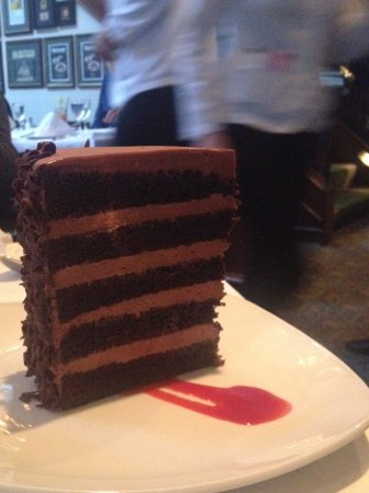 Joe Fortes Seafood Chop House Serious 7 Layer Chocolate Cake