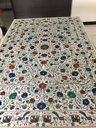 Marble inlay dining table from Marble Art Palace Picture of