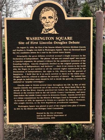 Ottawa, IL: plaque in Washington Square