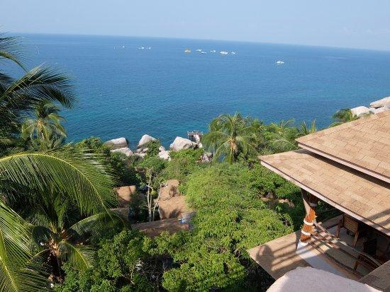 Koh Tao Hillside: Вид из отеля
