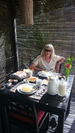 Morere, BA: Deck individual para desayuno