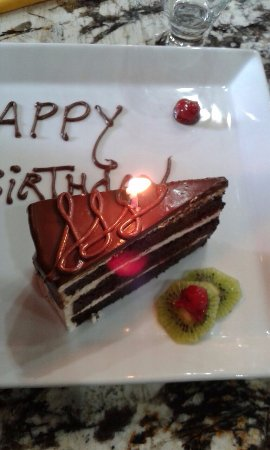 Best Western Belize Biltmore Plaza: My free birthday dessert
