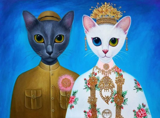 Choeng Thale, Thailand: authentic hand painted oil paintings on canvas by local artist Juffy Joob