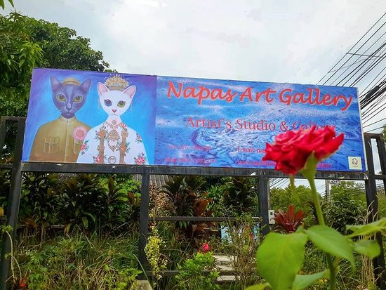 Choeng Thale, Thailand: Signboard of Napas Art Gallery