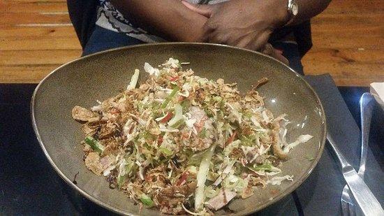 Tairua, New Zealand: duck salad