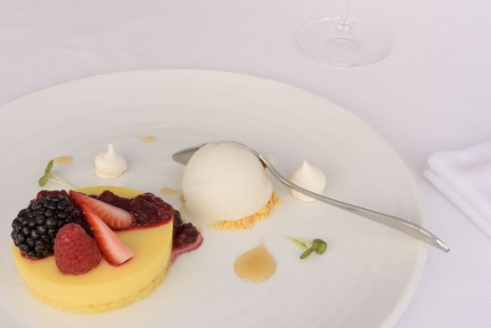 Red Fruits Lemon Tart - Picture of Chez Charles Restaurant