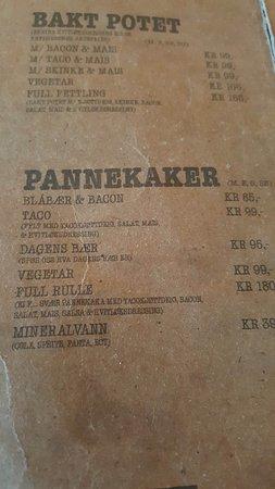 Huken PUB: Norwegian menu