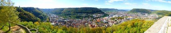 Geislingen, Tyskland: Ausbick von der Burgruine Helfenstein