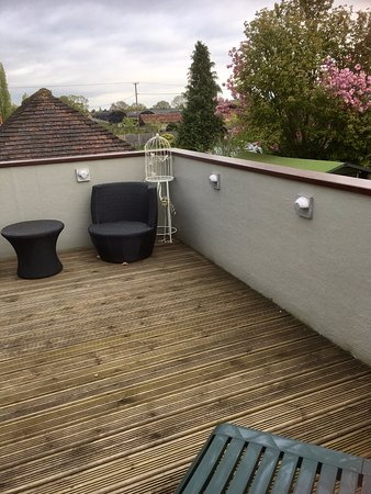 Hanley Swan, UK: Other side of balcony