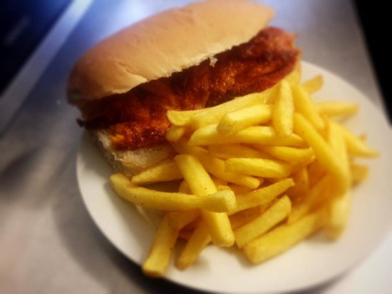 Stokesley, UK: Fresh Sandwiches and Chips