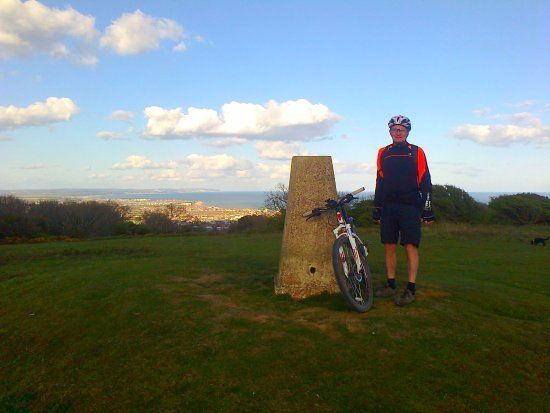 Steyning, UK: last trig point and Eastbourne