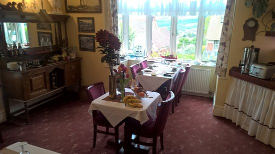 Marston Lodge Hotel : Breakfast room with great wiew!