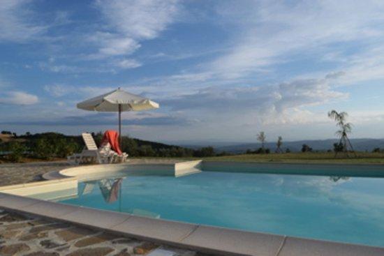 Fratticiola Selvatica, Italia: Pool mit Aussicht