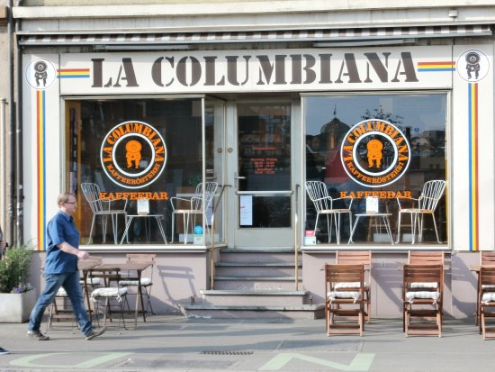 La Columbiana Kaffeeroesterei: Exterior view and entrance
