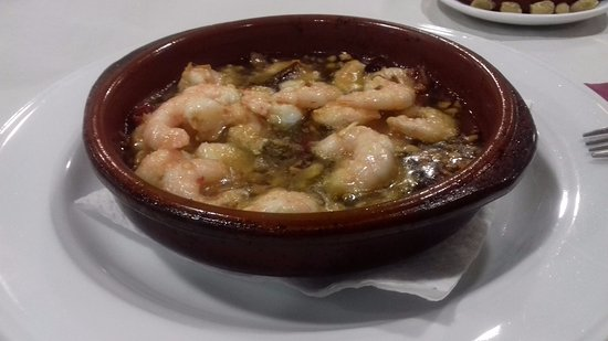 Villanueva de la Concepcion, Spain: Gambas al ajillo.