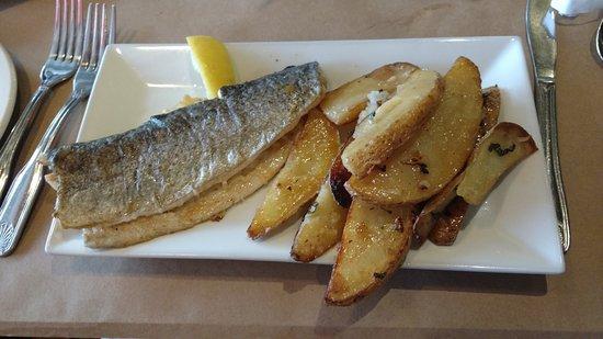 Fish: Parmesan grilled trout