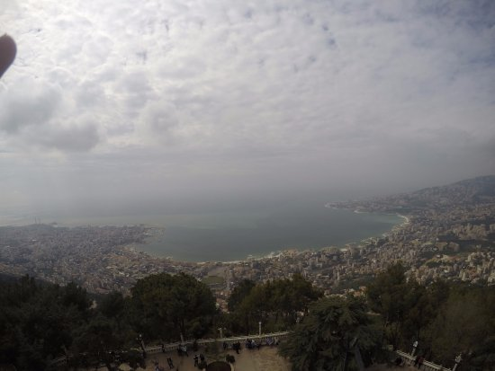 Unsere liebe Frau vom Libanon (Harissa): the view from above