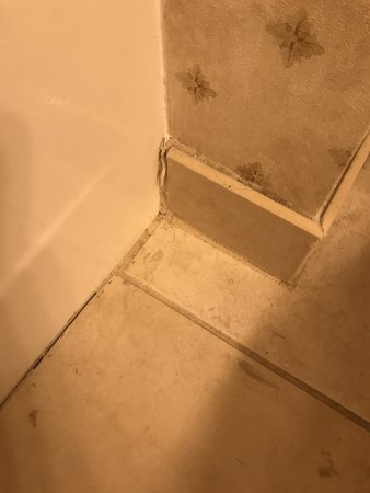 Missouri: Floor by the tub