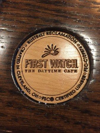 Port Saint Lucie, FL: really cool medallion embedded on each table