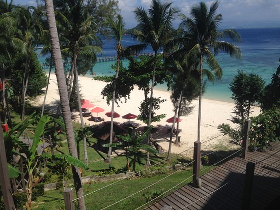 Manukan Island, Malasia: View from room 17