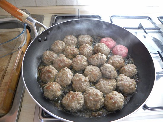 Casteldaccia, İtalya: Sicilian meatballs