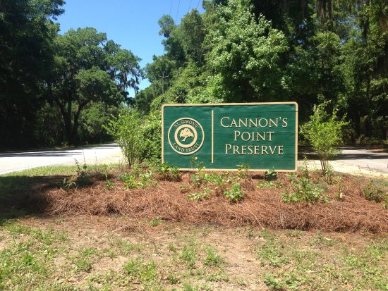 Saint Simons Island, GA: Entrance sign to Cannon's Point Preserve