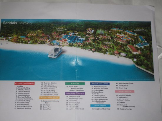 83cc207c6067 Map of resort - Picture of Sandals Halcyon Beach Resort