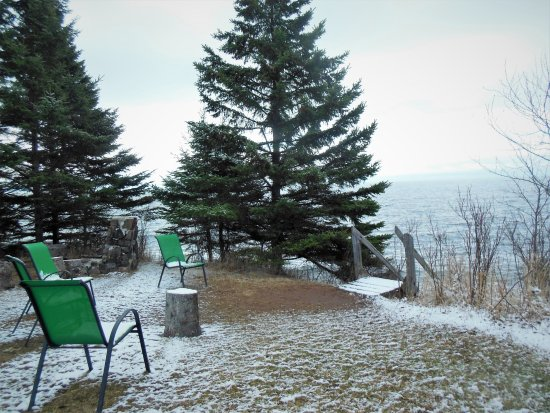 Lutsen, MN: Guests can relax here overlooking Lake Superior