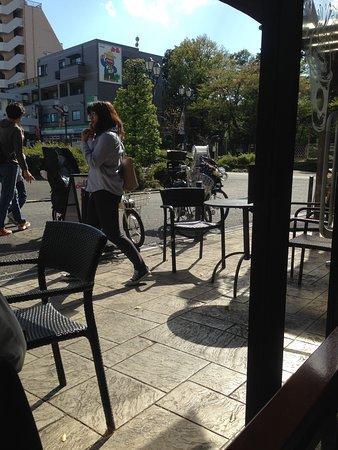 Entrance of the Starbucks @ Toshimaen
