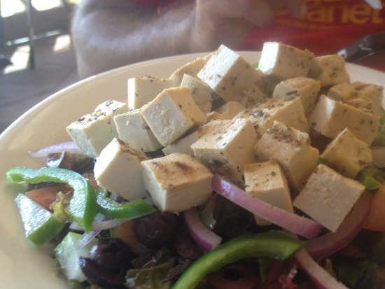 Rockley, Barbados: Tofu salad