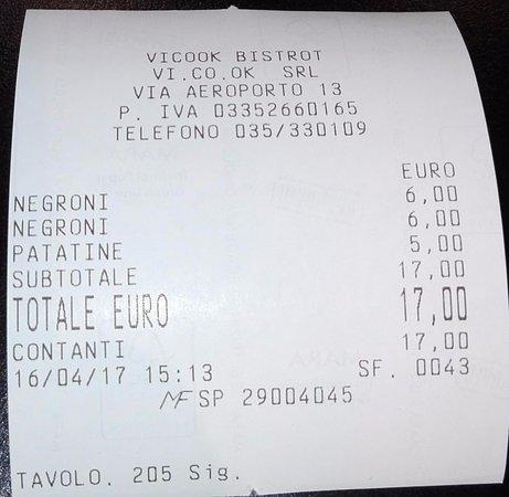 Orio Al Serio, Italia: il negroni ci può stare... ma le patatine fate voi
