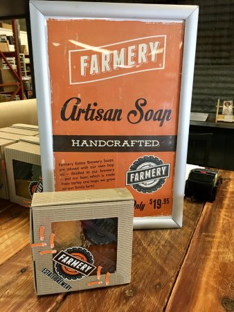 Neepawa, Καναδάς: Our hand-made hop oil infused soaps are available exclusively at the Farmery Estate Brewery!