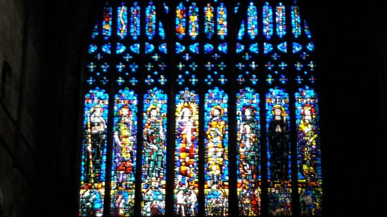 Chester Cathedral: One set of many stained glass windows