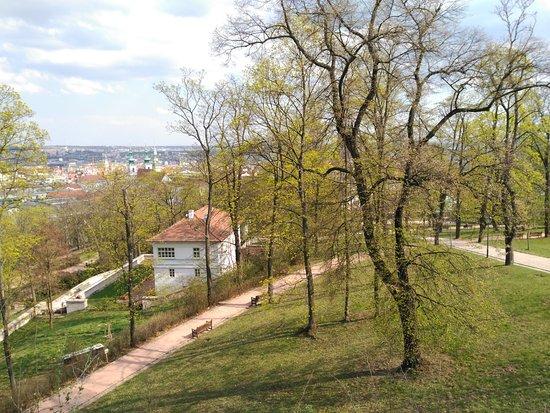 Brno, Republik Ceko: Caminos en el parque
