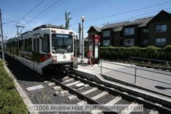 Hillsboro, OR: Light rail is only a few blocks from our lobby entrance. Ride to downtown and the airport anytim