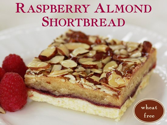 Bellefontaine, OH: Buttery shortbread baked with fresh raspberry puree and almond cream