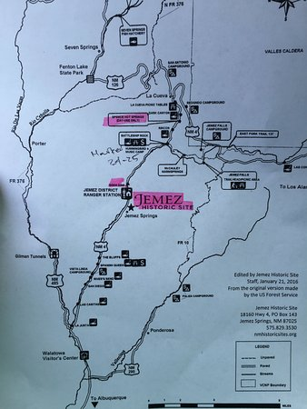 Local map - Picture of Spence Hot Springs, Jemez Springs ...