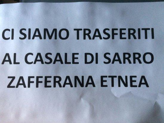 Sant'Alfio, Italië: DAL 07 APRILE 2017 CI SIAMO TRASFERITI AL CASALE DI SARRO