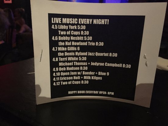 Little Room Jazz Club: Music Lineup