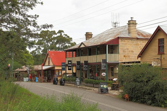 Wollombi, Australia: view from cafe