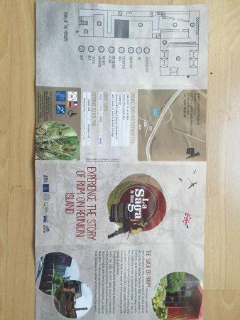Saint-Pierre, Reunión: Flyer in deutsch und englisch