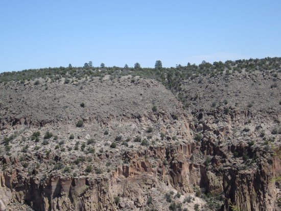 Bandelier National Monument: View from the ridge on Frijolito Loop Trail