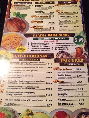 Madison Heights, MI: Yummy meal & menu list....Awesome meal