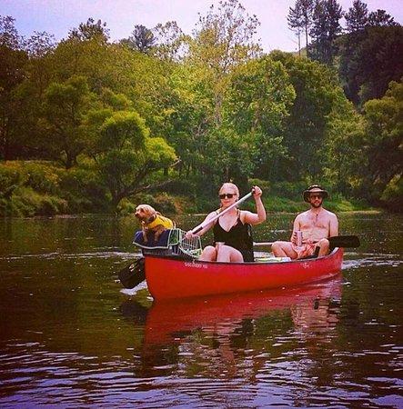 Galax, VA: customers enjoying a scenic trip down the New River