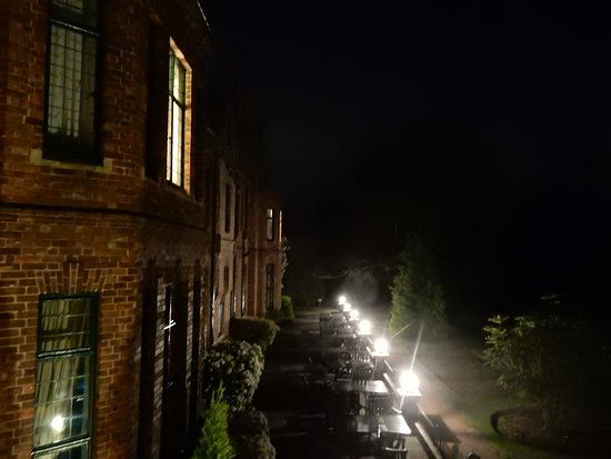 Aldwark, UK: Night view from our balcony