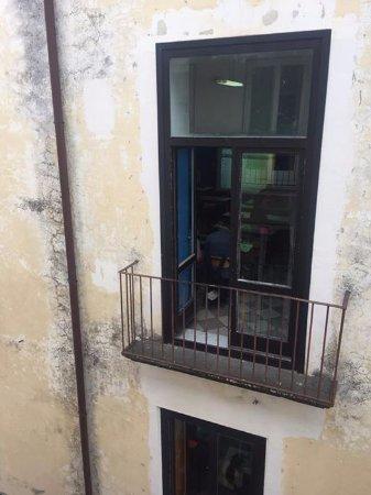 Hotel Mignon: parochial school next door, view from our balcony