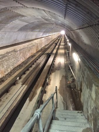 Aviemore, UK: Travelling up to the highest underground station in the UK