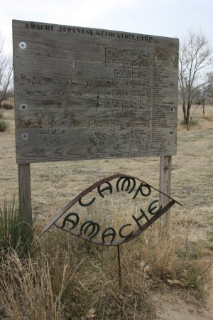 Granada, CO: Sign/map made by a high school from the camp