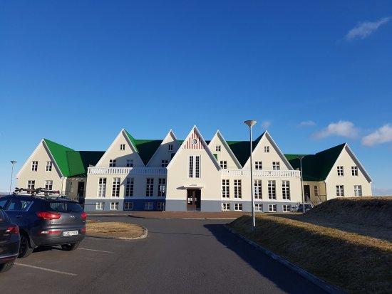 Laugarvatn, Islande : facade van de hostel